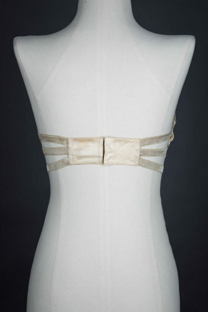 c. 1910s bandeau bra from The Underpinnings Museum. Photography by Tigz Rice.