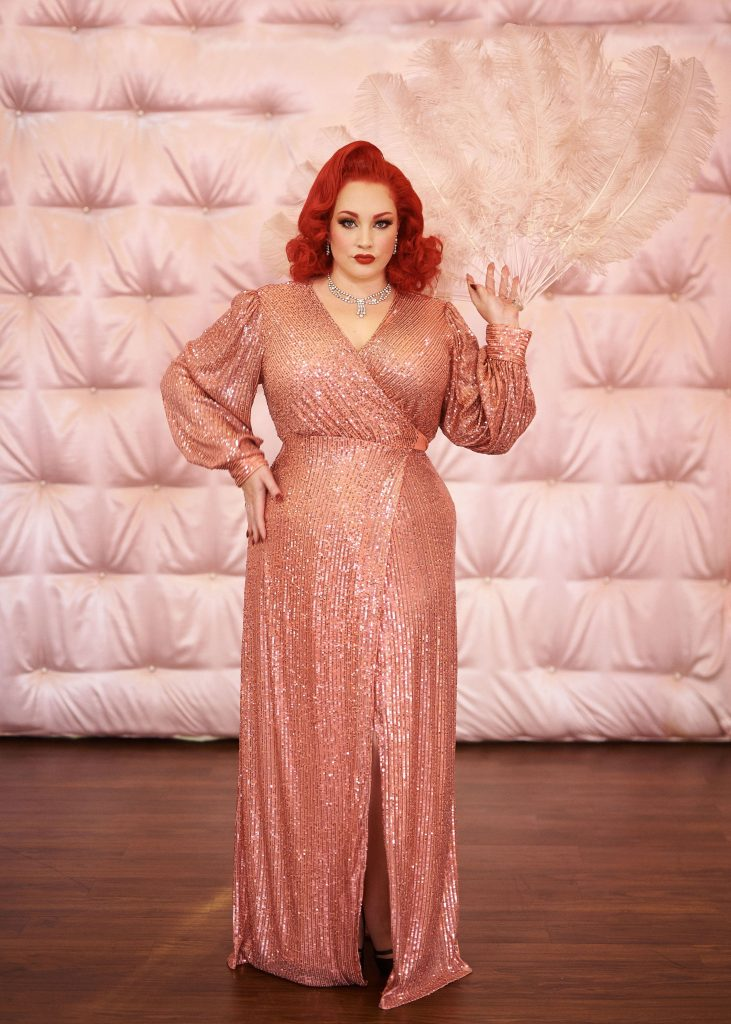 sparkling cocktail party dressing gown