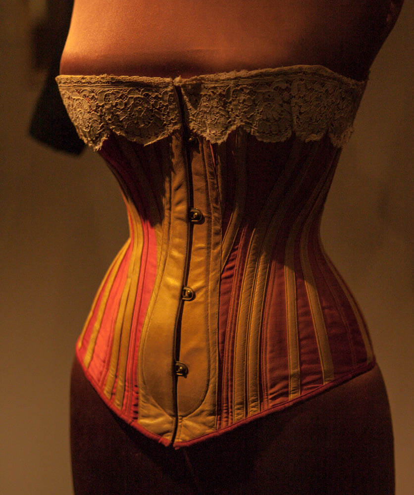 Victoria and Albert Museum - Victorian leather corset