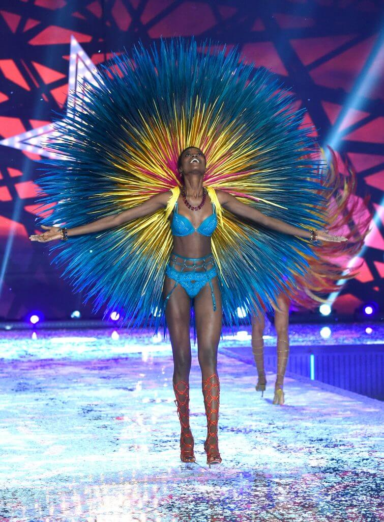 NEW YORK, NY - NOVEMBER 10: Model Maria Borges from Angola walks the runway during the 2015 Victoria's Secret Fashion Show at Lexington Armory on November 10, 2015 in New York City. (Photo by Kevin Mazur/WireImage)