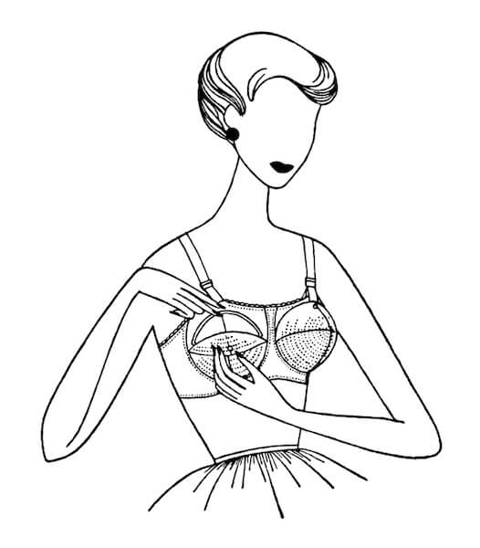 Vintage Bra Illustration
