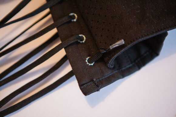 Vollers 'Waist Hugger' underbust corset, grommets and lacing on the corset interior. Photo by K Laskowska