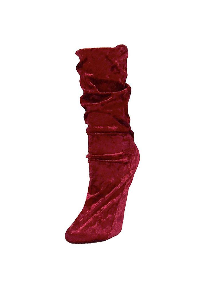 Wonderlust Lingerie Velour Crew Socks