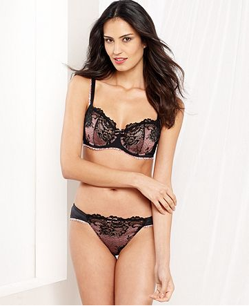 Whimsy by Lunaire Victoria Shadow Lace Demi Bra - $38.00