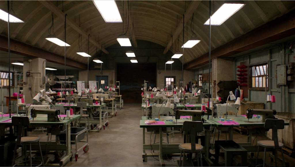 Whispers intimate apparel factory, set in Litchfield Prison. From Orange is the New Black Wikia.