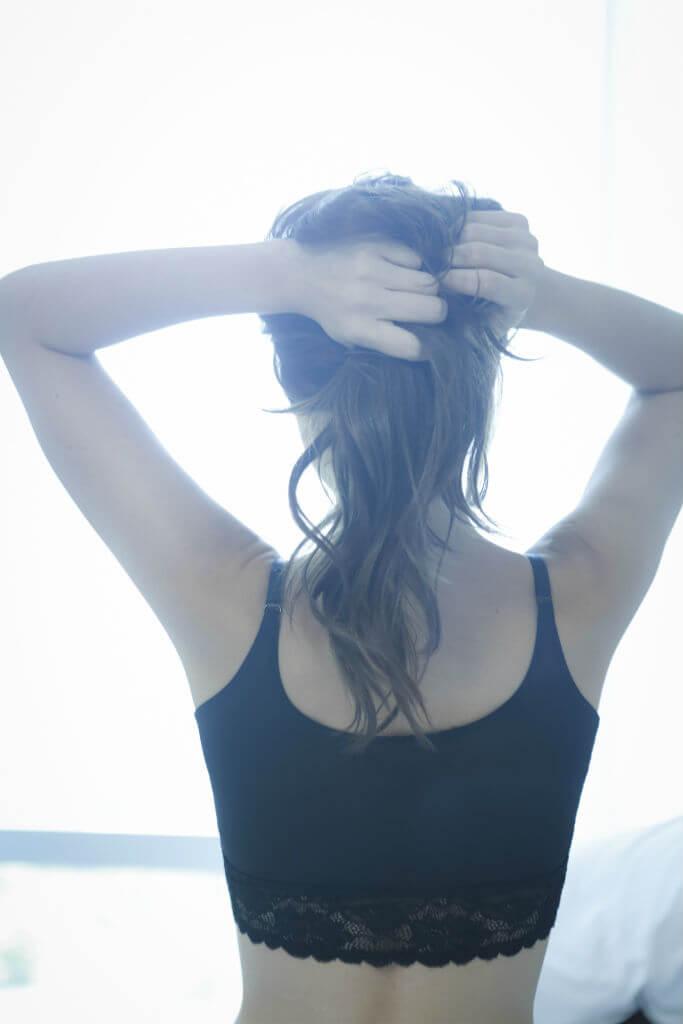 Yasmin Joseph black bra back