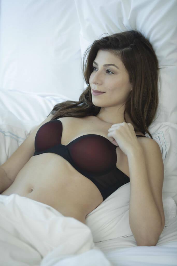 Yasmin Joseph red bra front