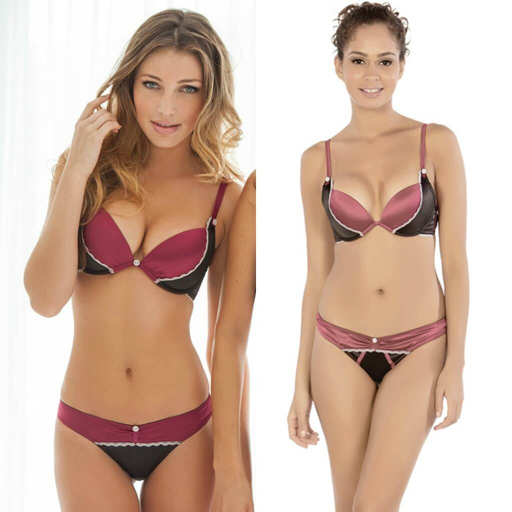 b27e6760bc122 Parfait by Affinitas Leslie Bra Set on Right. Adore Me  Kandi  bra on left.  Affinitas  Sydney  bra on right