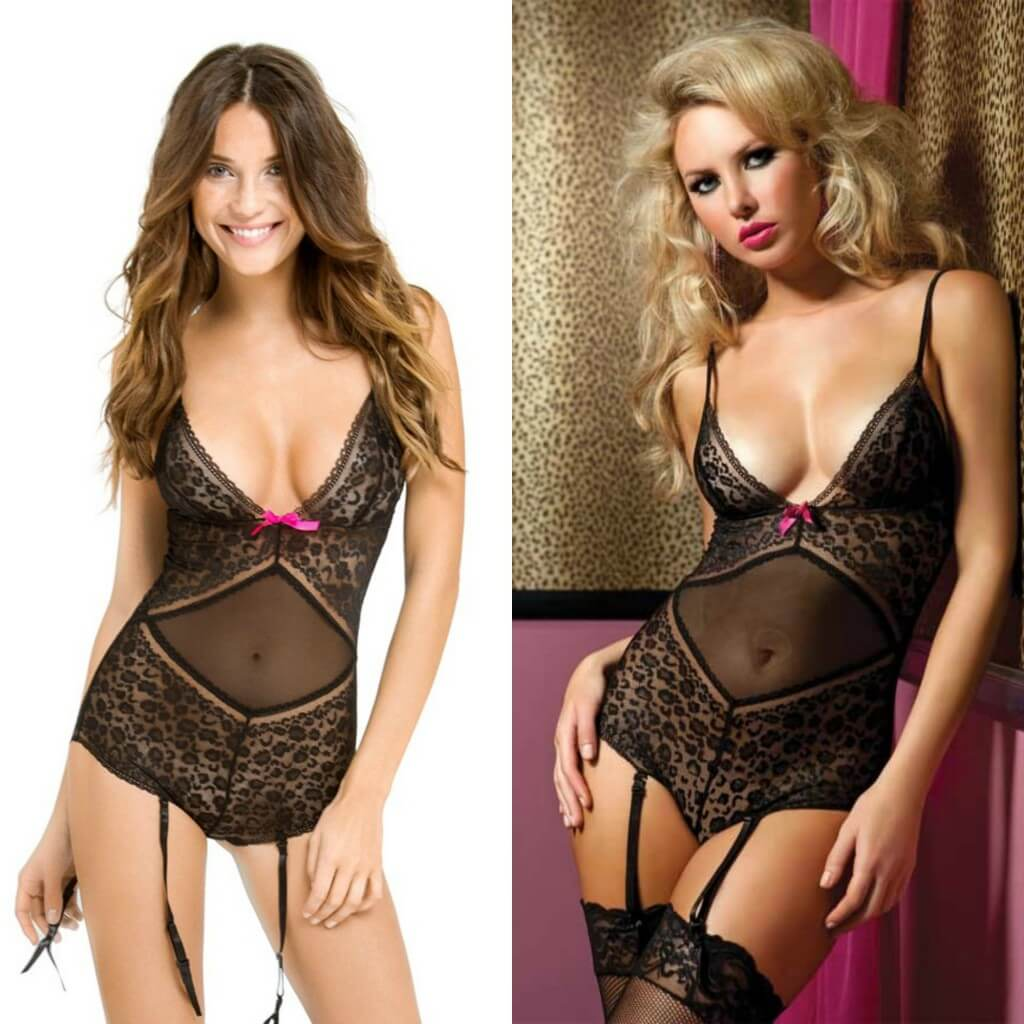 9216121183 adore me seven til midnight black lace teddy 1