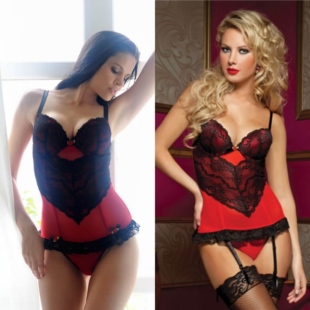 34203064e4 adore me seven til midnight red black lace bustier