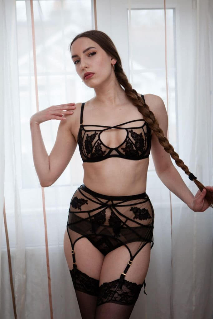 Agent Provocateur Demelza bra and suspender belt