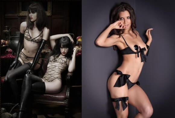 Agent Provocateur's 'Maschina' and 'Marilyn' sets. Photos by Agent Provocateur.