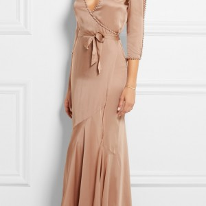 Lingerie Wishlist: Agent Provocateur 'Francis' Faux Pearl Embellished Silk Satin Robe