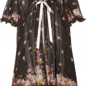 Sale Lingerie of the Week: Agent Provocateur 'Sybil' Ruffle Floral Print Silk Chiffon Robe