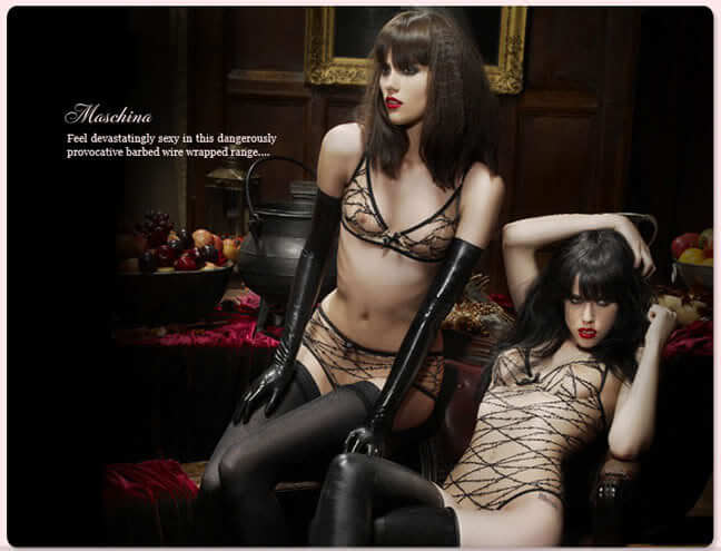 Agent Provocateur Maschina Autumn/Winter 2008. Barbed wire tulle.