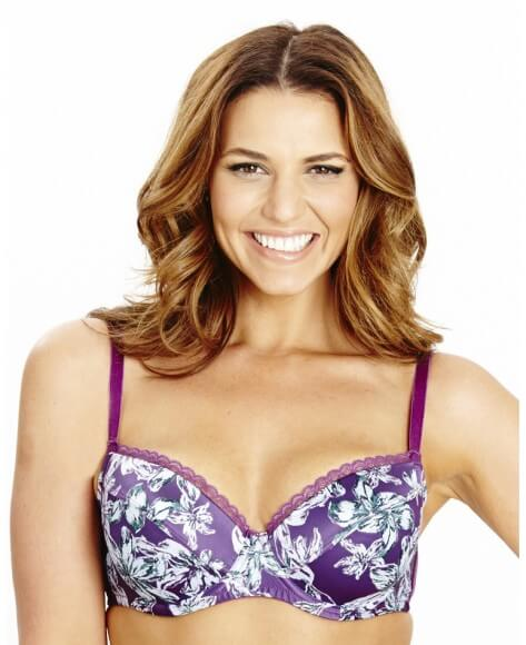 Amethyst Balcony Bra by Simply Be  34C to 46I (US sizing)