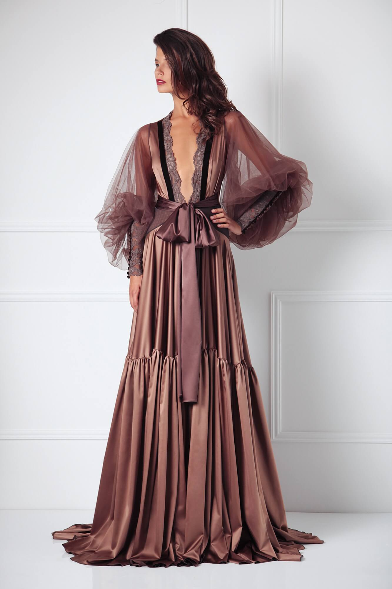 Lingerie Lust Objects: Amoralle Almond Magnum Robe