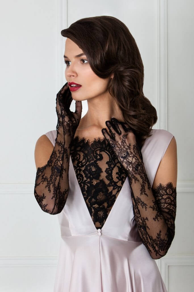 Amoralle Black Lace Gloves - $92.65