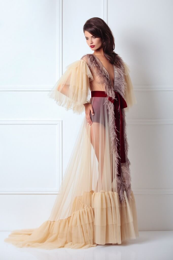 $594.30 http://store.amoralle.com/royal-feather-robe