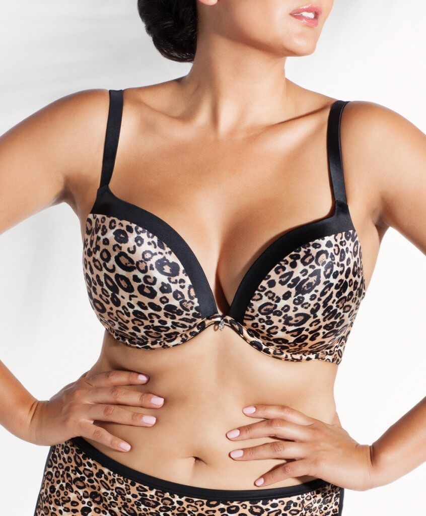 Animal Attraction Perfect Plunge by Curvy Couture  34DDD to 44H (US sizing)