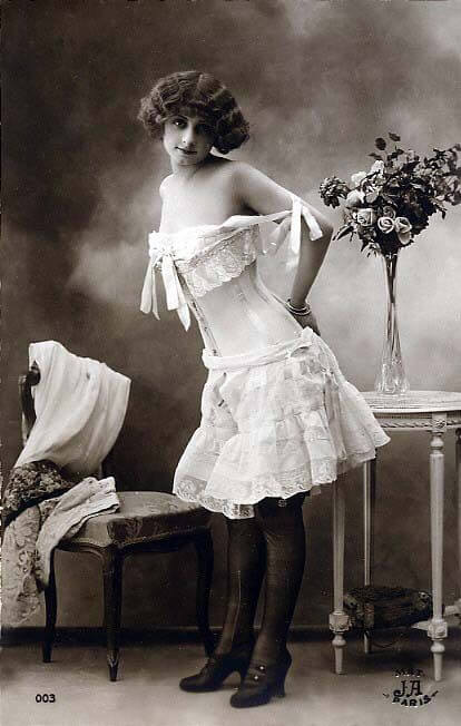 antique corset pinup