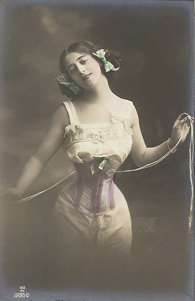Antique Photo of Woman in a Corset