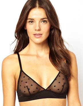 Monki Ingrid Spot Mesh Soft Bra - $23.14