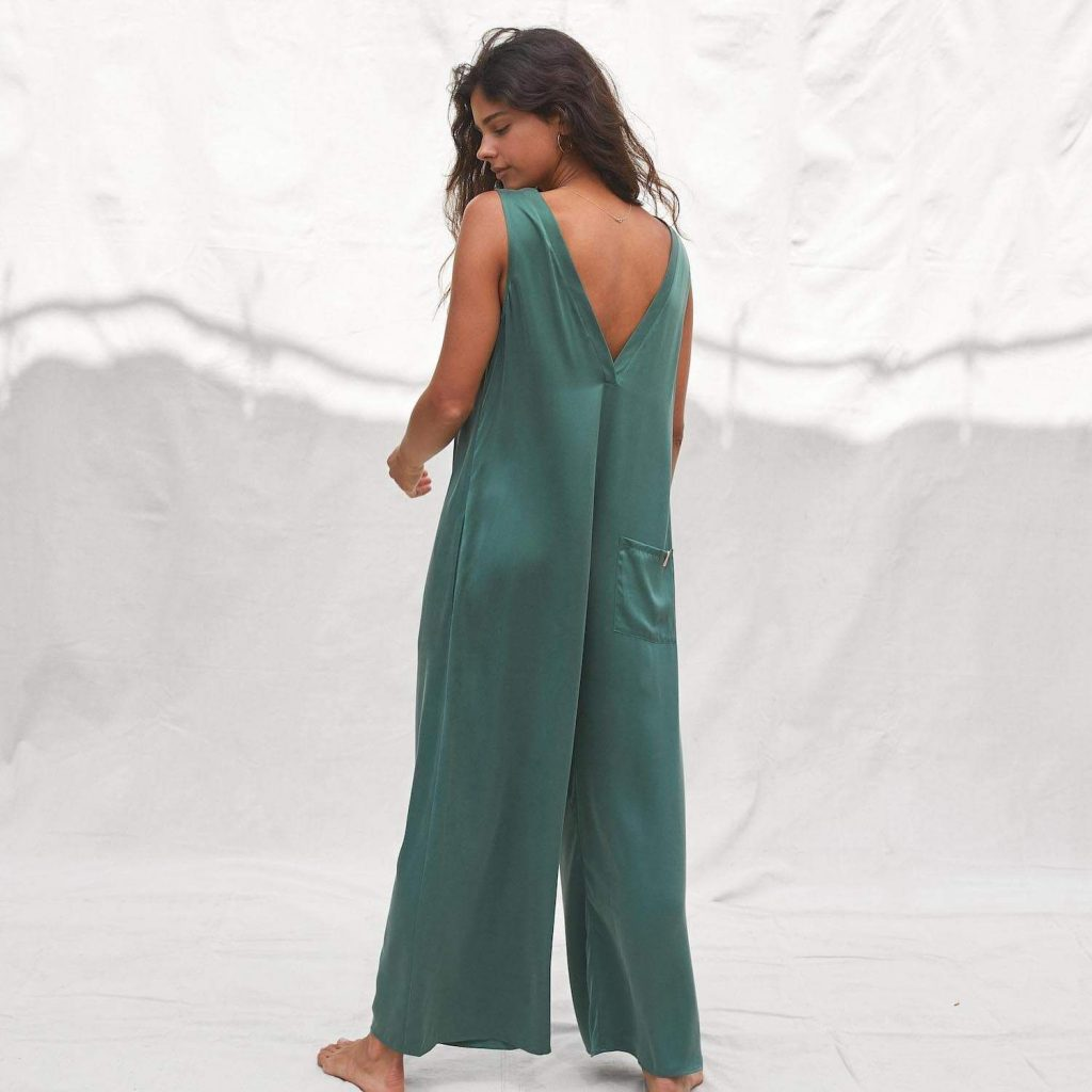 Lunya Washable Silk Double V Jumpsuit