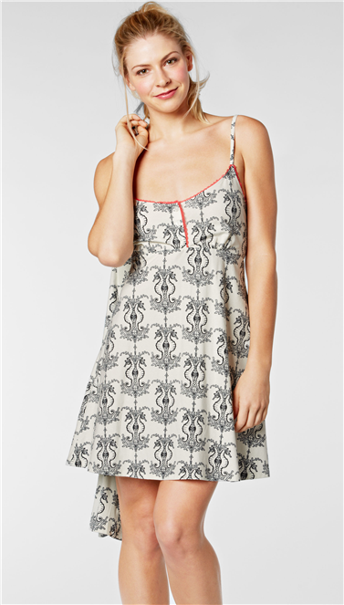 Cream Seahorse Stretch Button-Front Chemise (Was $114, Now $69)