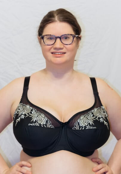 Black and Silver Microfiber Underwire Bra by Elila