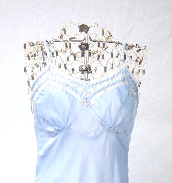 Vintage Blue Sheer Slip at ForsythiaHill on Etsy