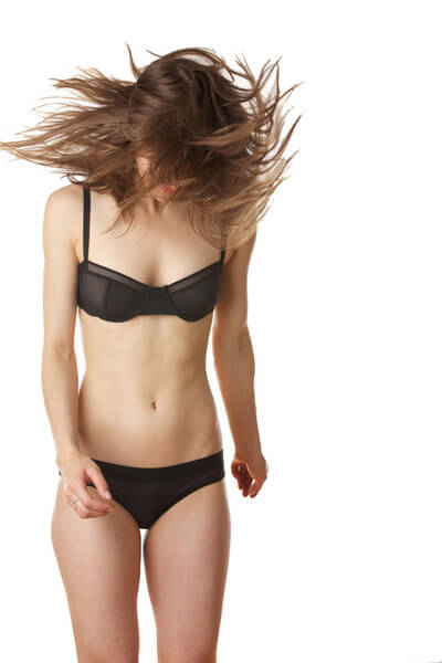 Black sieve balconette bra by Negative Lingerie, one of the many indie brands Sicardi references in her article.