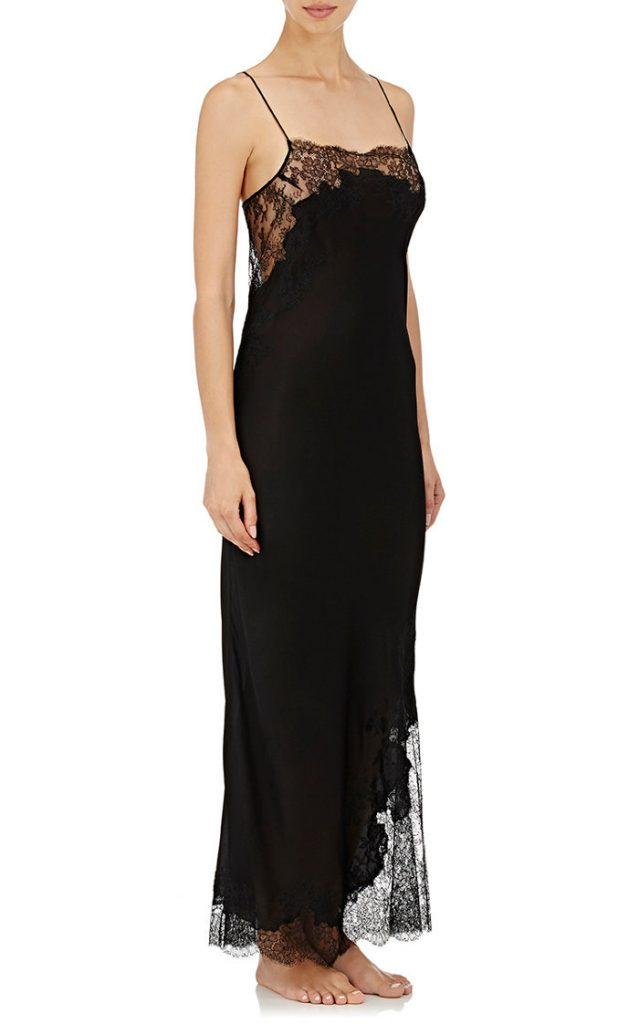 Carine Gilson Lace-Trimmed Silk Georgette Gown