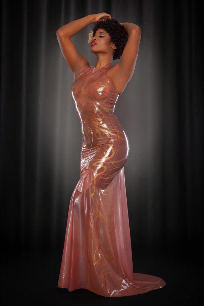 Lingerie Wishlist: Kiss Me Deadly Rose Noir Mucha Latex Gown