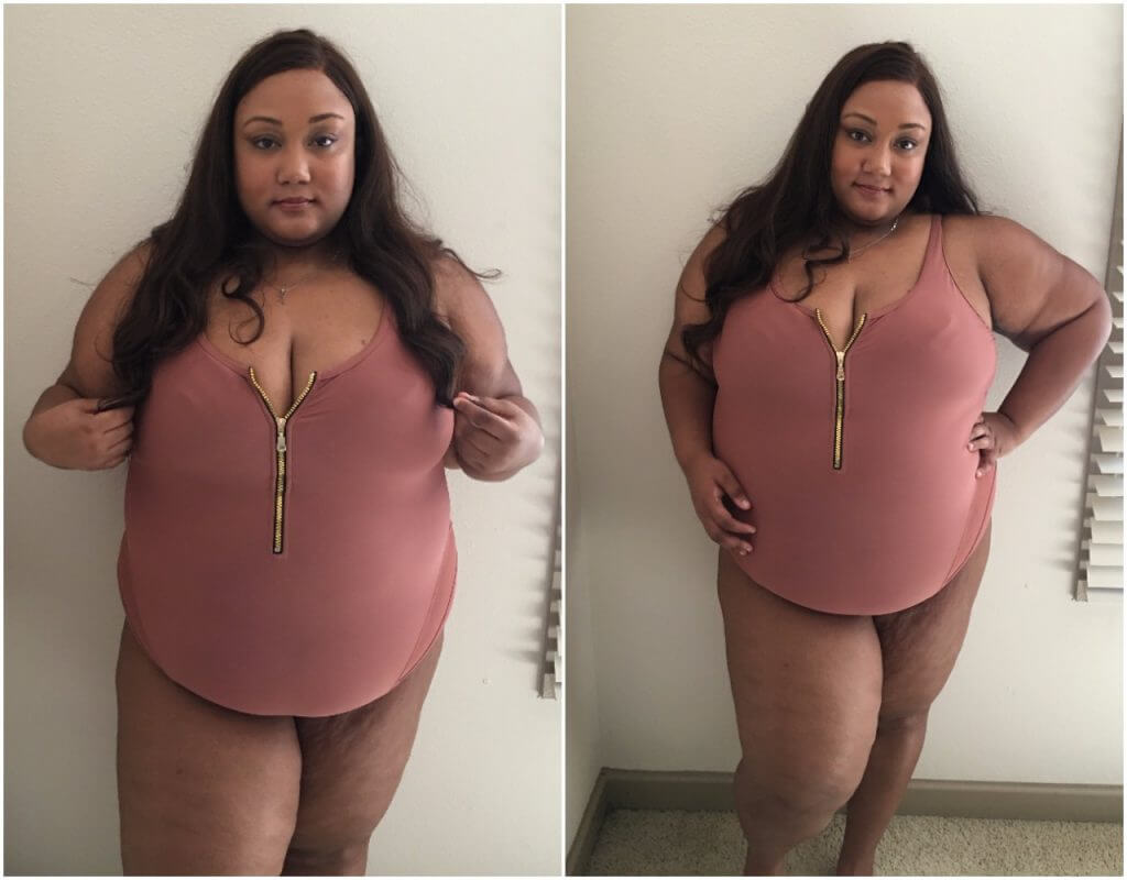 382d565c6e Plus Size Swimsuit Review  GabiFresh x Swimsuits for All. Champagne Swimsuit .