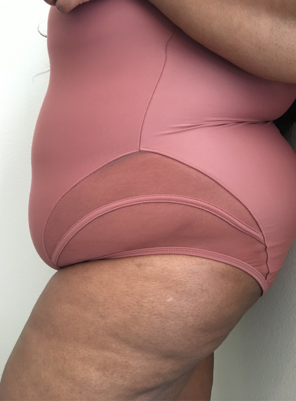 Plus Size Swimsuit Review: GabiFresh x Swimsuits for All. Champagne Swimsuit.