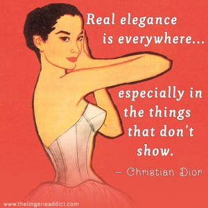 Lingerie Posters: Fashion Sayings by Christian Dior