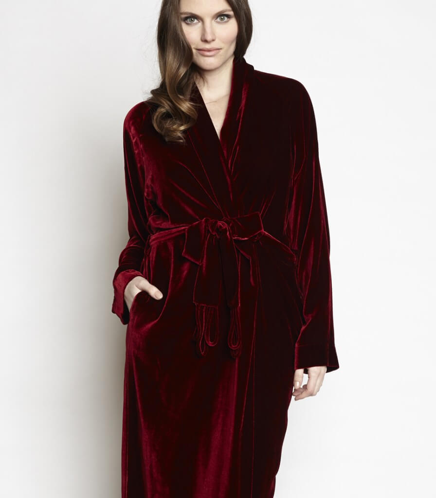 $515 http://christinelingerie.com/shop/new/diva-velvet-robe/