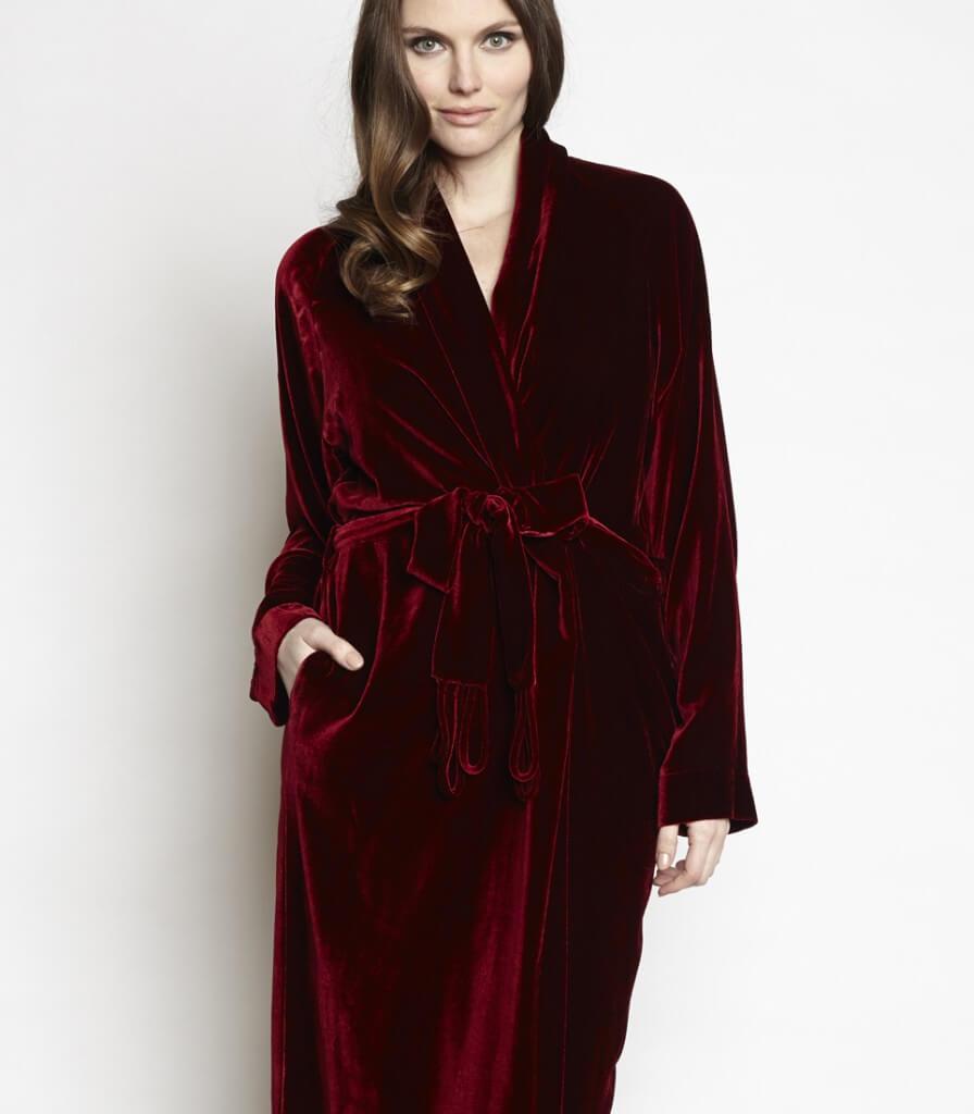 Christine Lingerie Diva Velvet Robe - $515.00