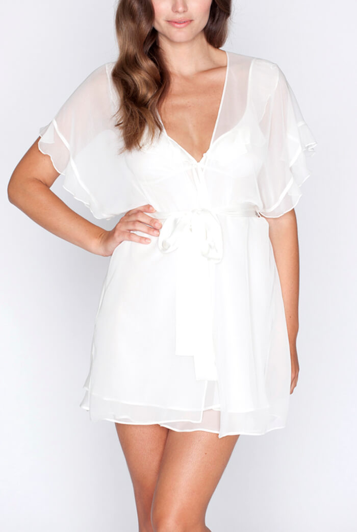 Christine Lingerie - Sugar and spice silk chiffon robe