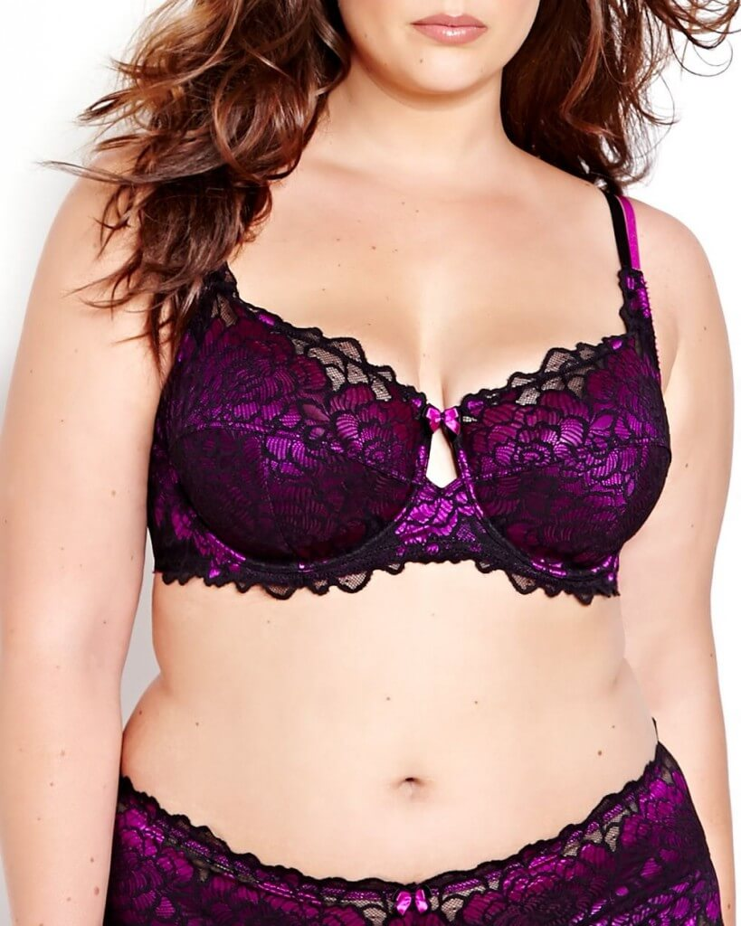 Contrast Lace Femme Couture Bra by Addition Elle  38D to 44DDD (US sizing)