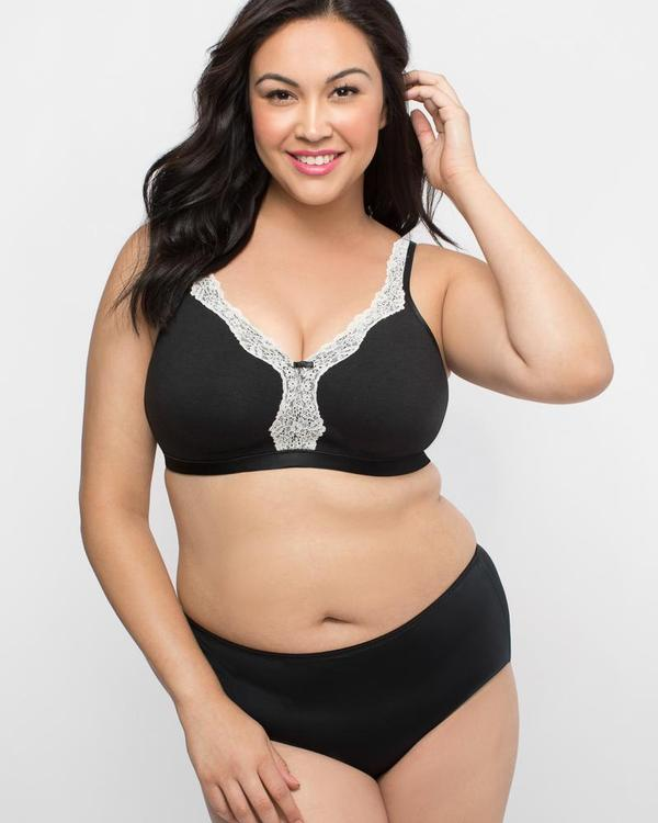 Curvy Couture Cotton Luxe Unlined Wirefree Bra