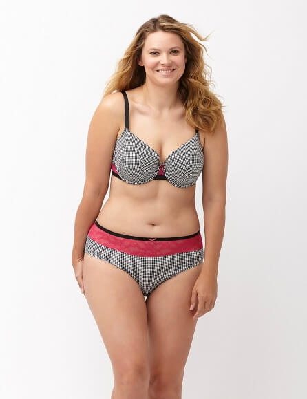 Cotton T-shirt Bra with Lace by Lane Bryant  36C to 46DDD (US sizing)