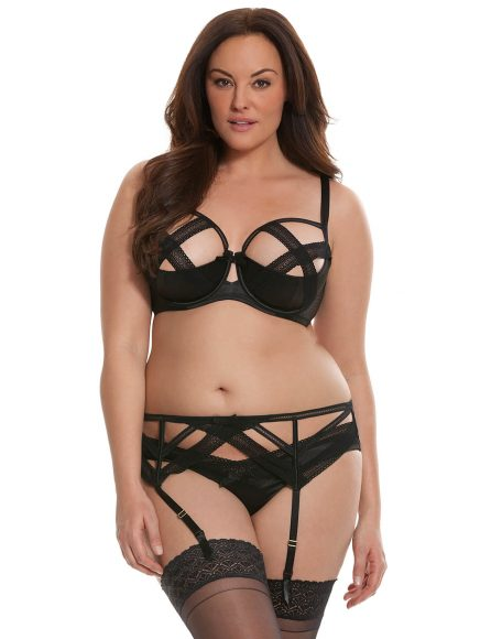 Criss Cross Lace Quarter Cup Bra by Cacique