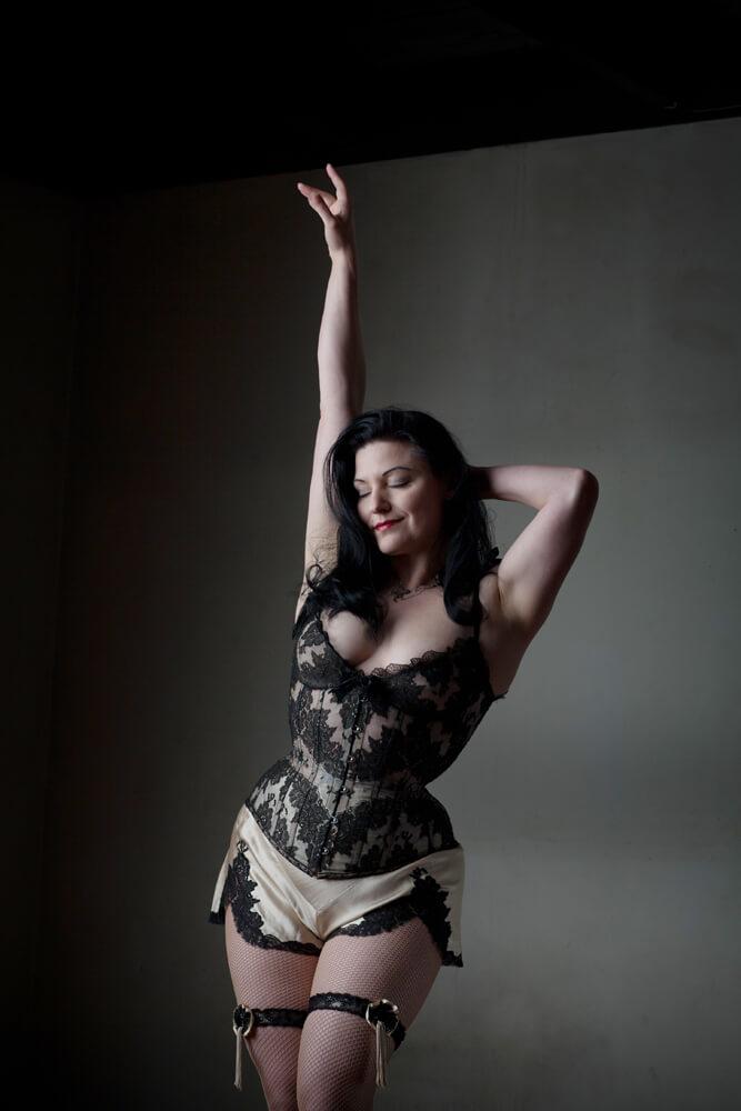 """Dark Garden """"Adelaide"""" custom corset with cups   Model: Autumn Adamme   © Joel Aron"""