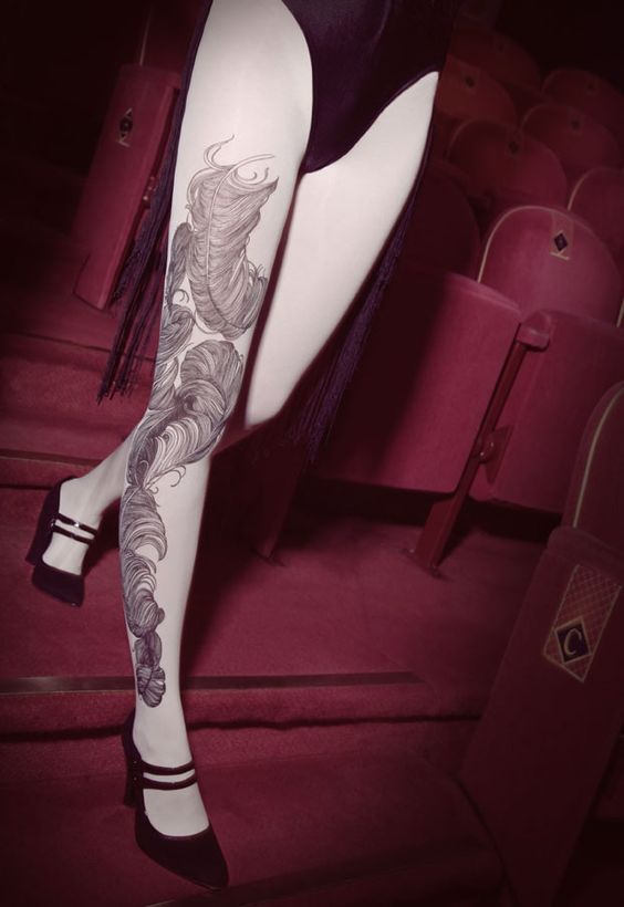 Bebaroque Feather Opaque Tights