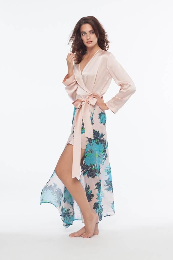 dear bowie naomi floral robe 2