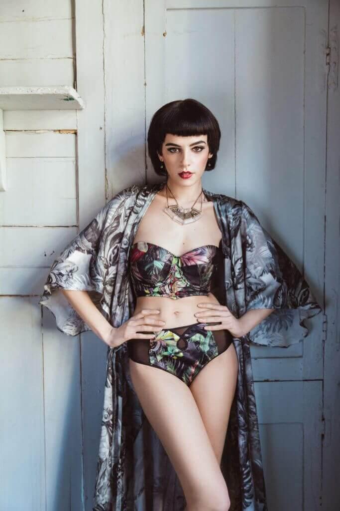 Silk Lingerie Models