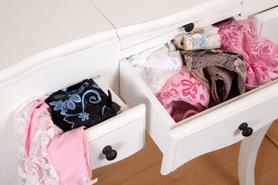 Drawers full of sexy lingerie