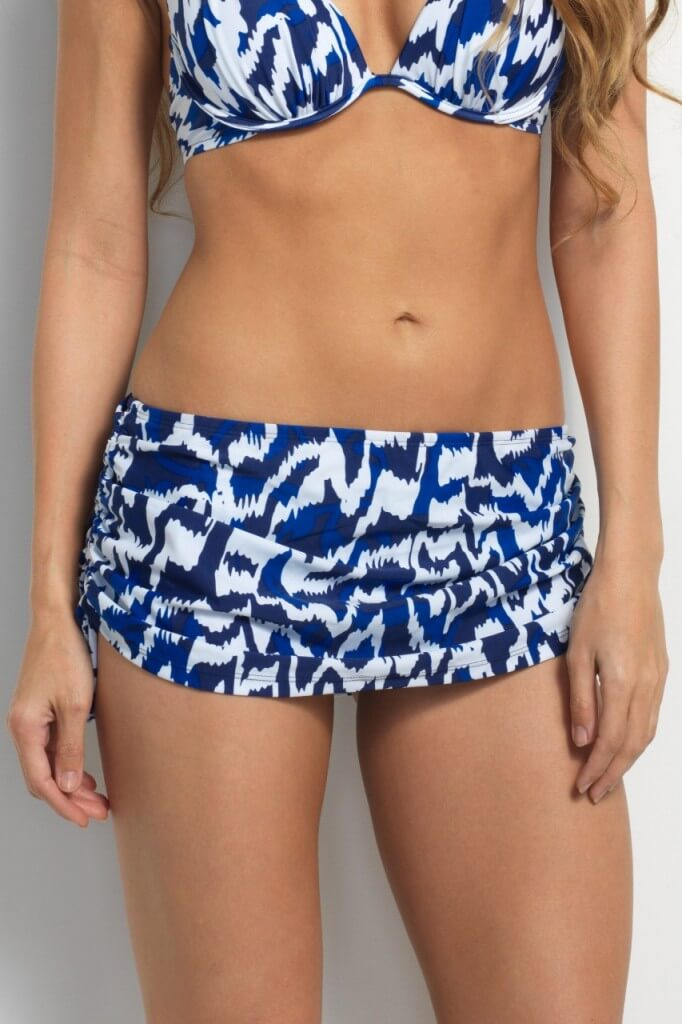 Zanzibar Drawstring Swim Skirt via Hapari.